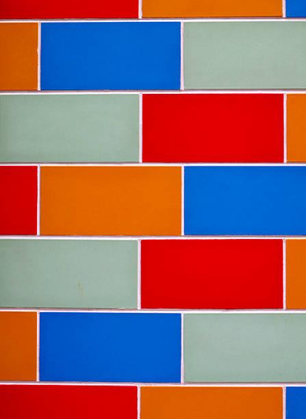 Colorful Brick Wall stok fotoğrafı