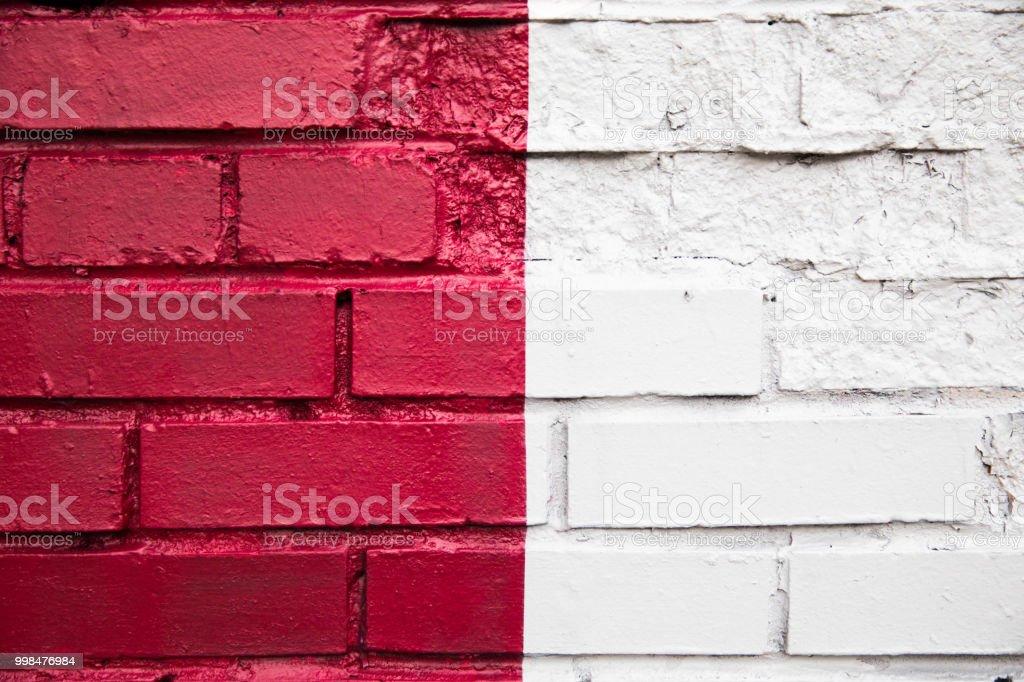 Colorido parede de tijolos - foto de acervo