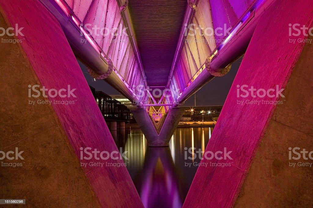 Colorful Bridge in Tempe Arizona stock photo