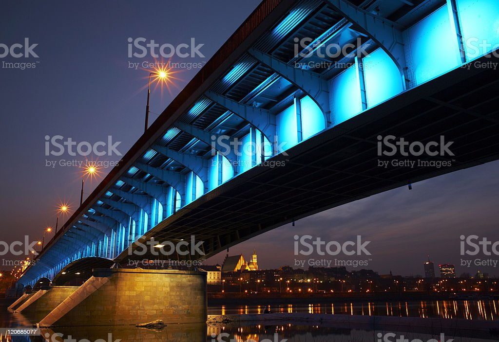 Colorful bridge stock photo