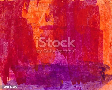 istock Colorful bright background hand painted on paper 1093837960