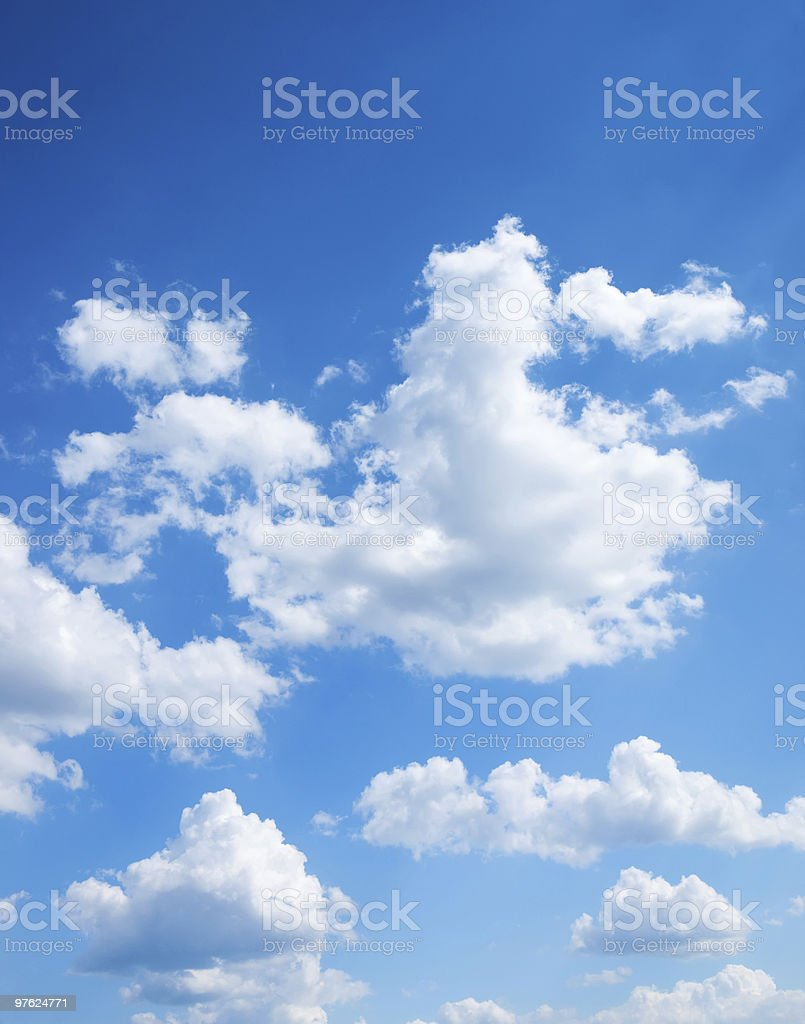 colorful bright blue sky royalty-free stock photo