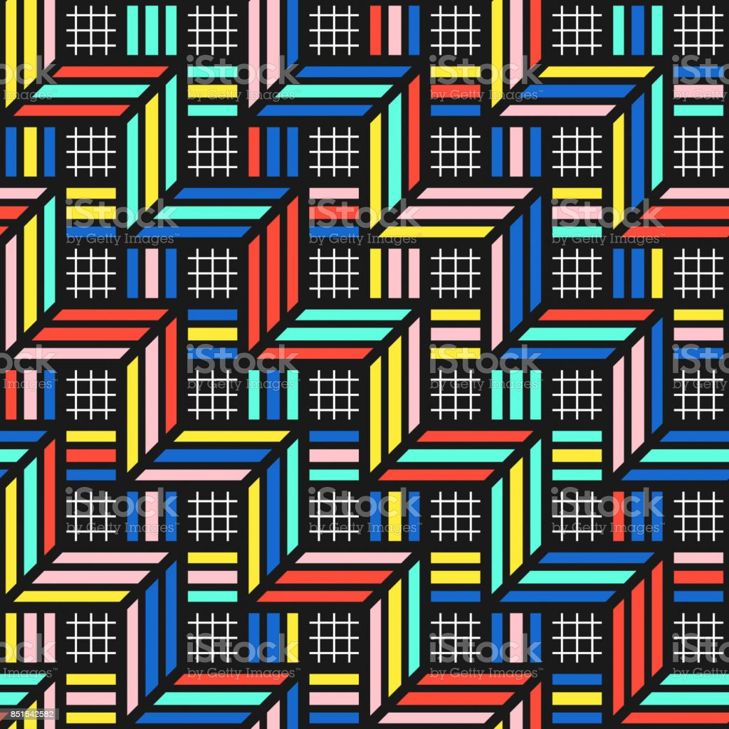 Colorful bright seamless pattern stock photo