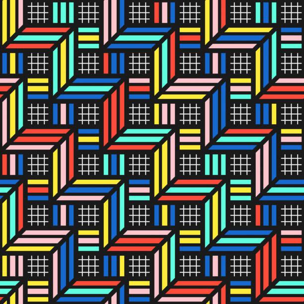 Colorful bright seamless pattern stock photo