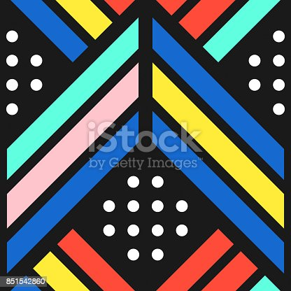 istock Colorful bright seamless pattern 851542860