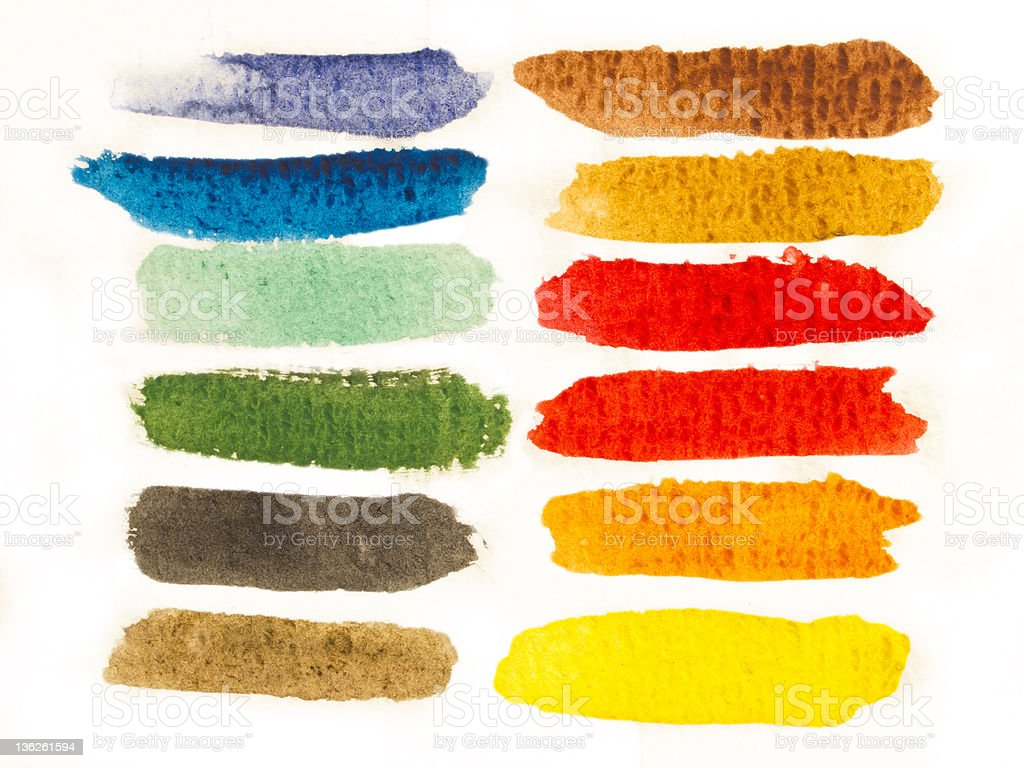 colorful brush strokes royalty-free stock photo