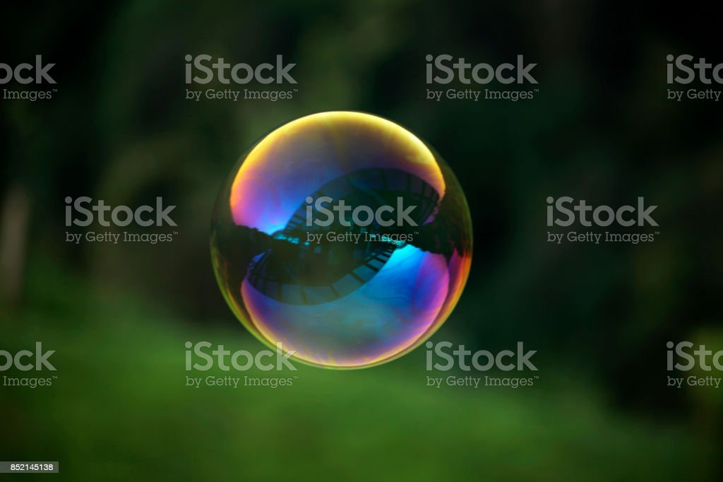 A colorful bubble stock photo