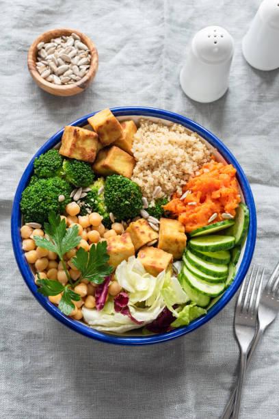 Bol coloré de Bouddha, salade végétarienne - Photo