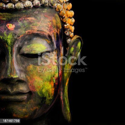 colorful Buddha on Black