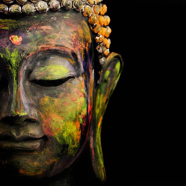 colorful buddha - buddha stockfoto's en -beelden
