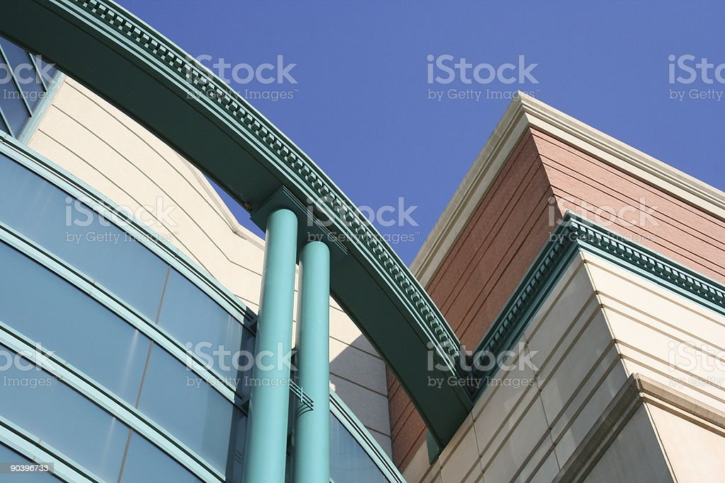 Colorful Building Detail stock photo