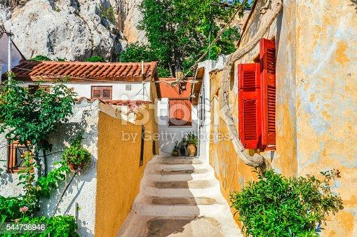 istock Colorful building in Plaka neighborhood of Athens, Greece 544736946