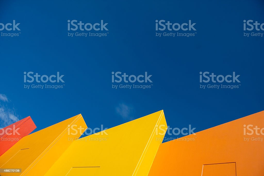 Colorful building Miami Florida stock photo
