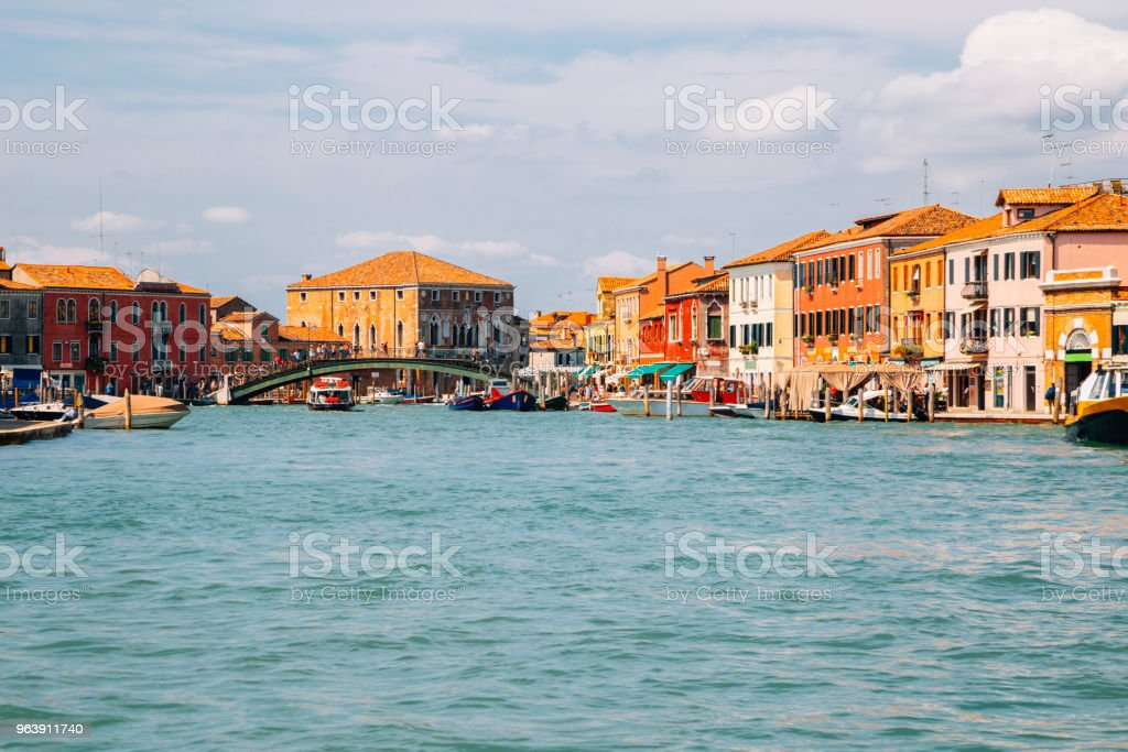 Colorful buildings and canal in Murano island, Venice, Italy - Royalty-free Architecture Stock Photo