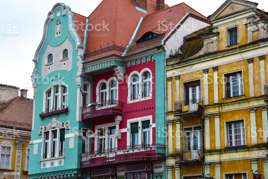 Colorful Buildings at Union Square stock photo