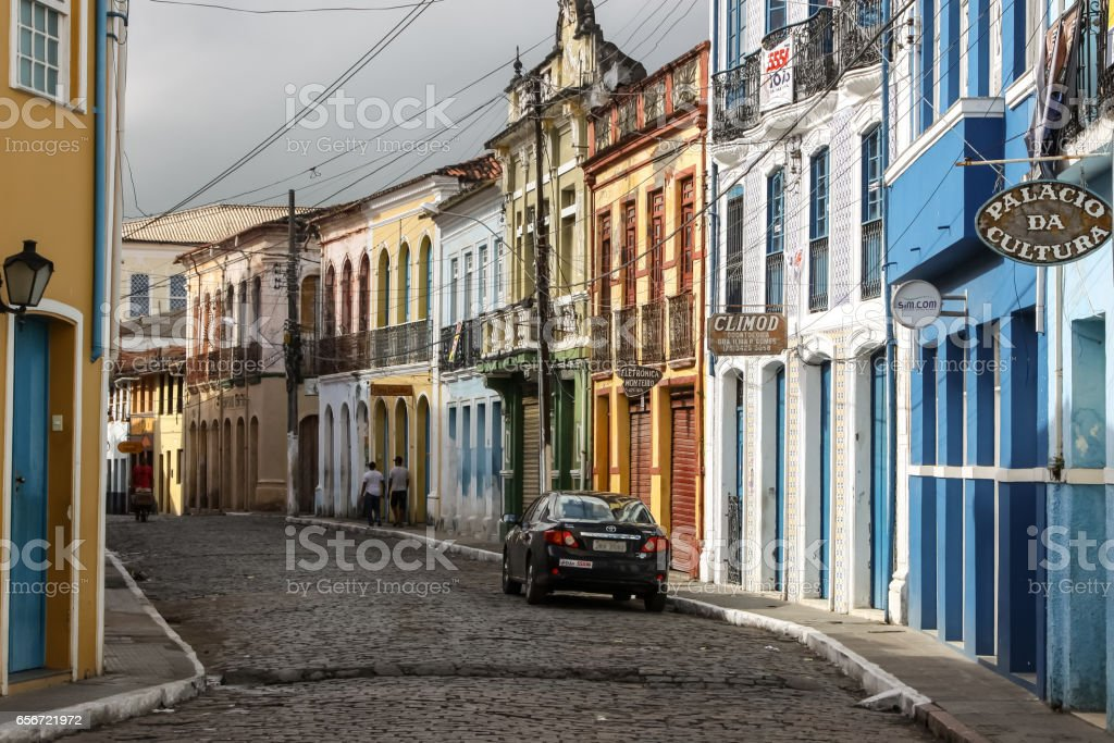 Colorful buildings in Cachoeira, a colonial city in Bahia – Foto