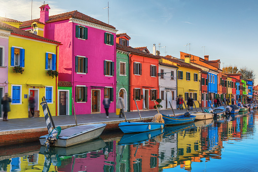 Colorful Buildings of Burano, Italy