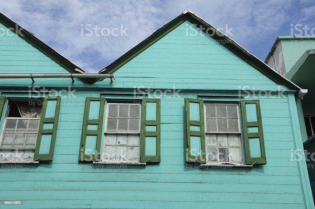 색상화 건물 on 카리브해 제도 royalty-free 스톡 사진