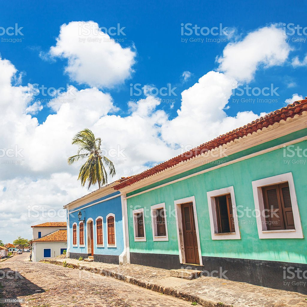 Colorful buildings. stock photo