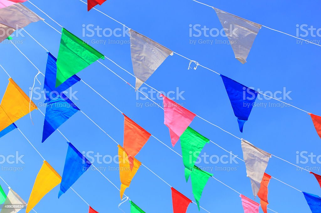 colorful bunting background stock photo