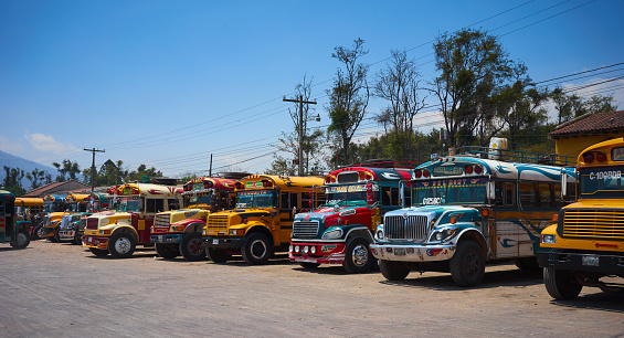 istock Colorful buses of Guatemala 669559488