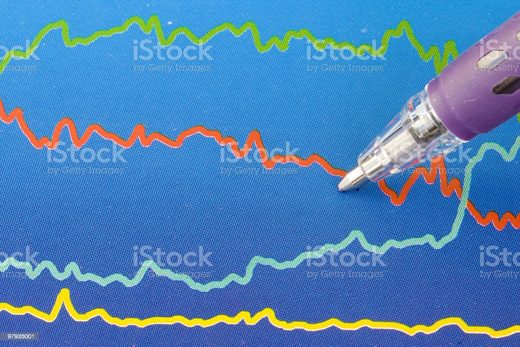 Colorful business chart royalty-free stock photo