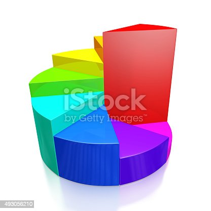 172875849 istock photo Colorful Business Growth Pie Chart 493056210