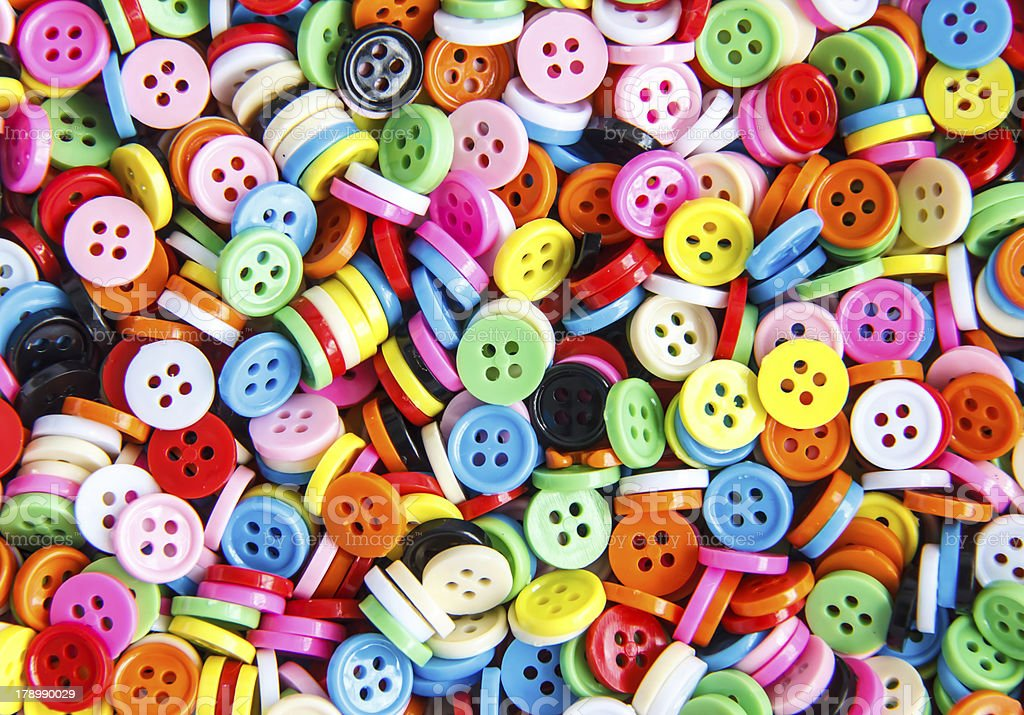 Colorful buttons,   Clasper close up royalty-free stock photo