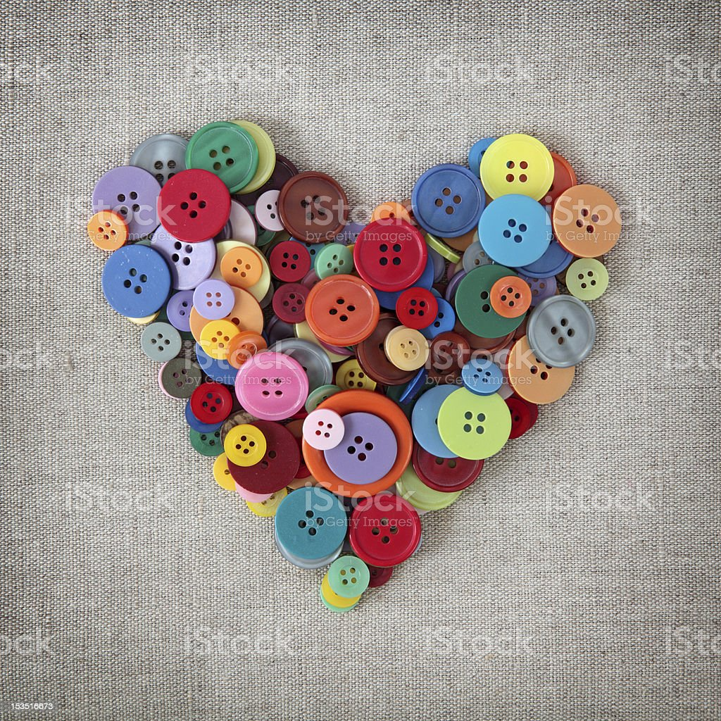Colorful buttons heart royalty-free stock photo
