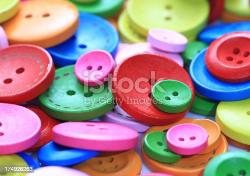 537376226istockphoto Colorful buttons 174926263