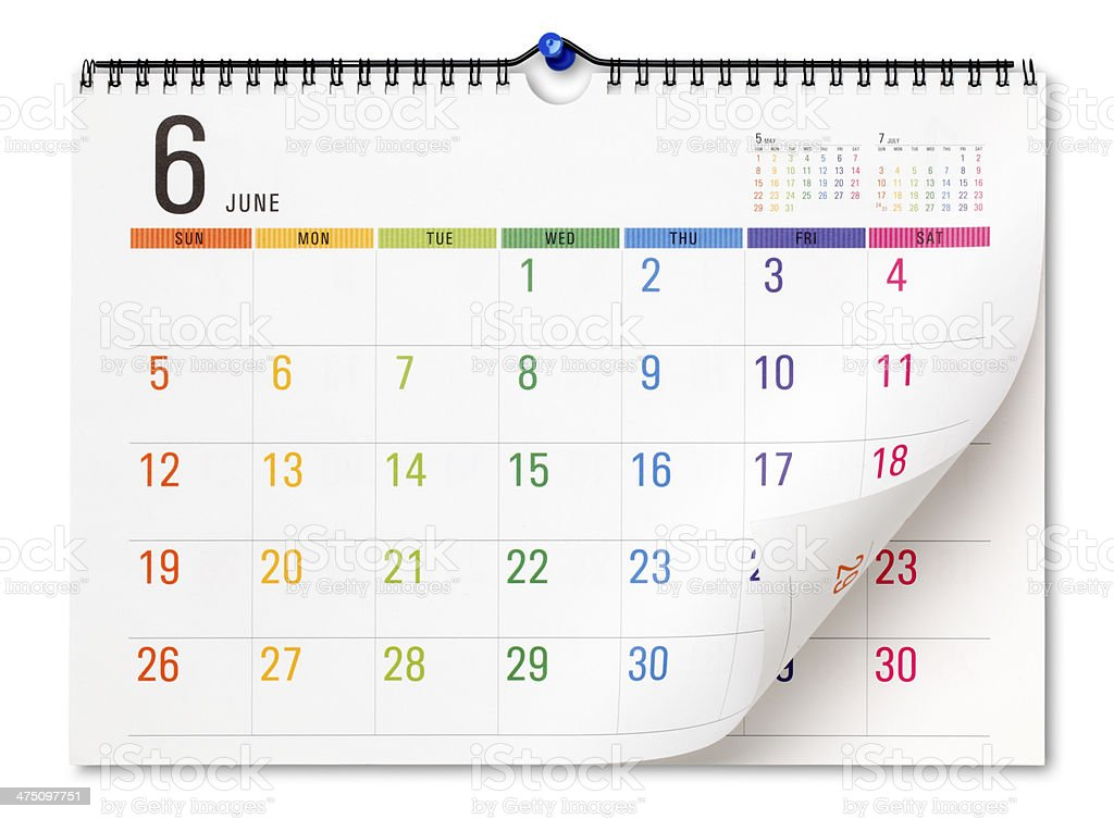 Colorful calendar royalty-free stock photo