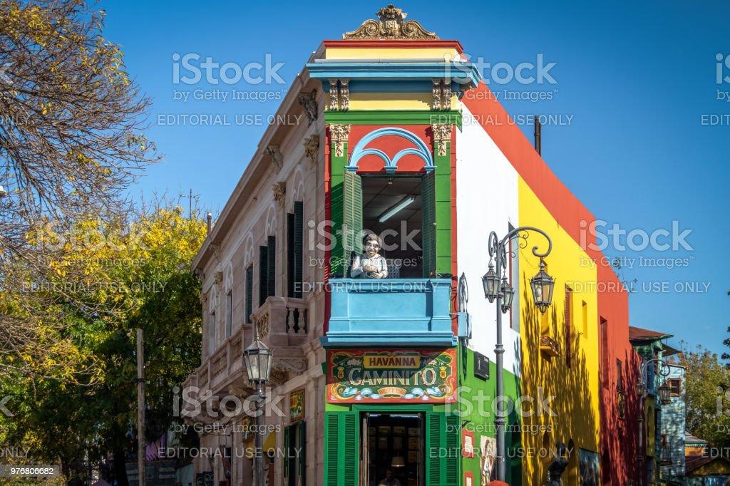 Colorido Caminito En El Barrio De La Boca Buenos Aires Argentina