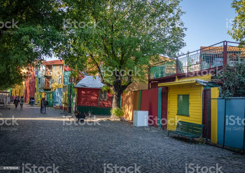 Colorful Caminito Street in La Boca neighborhood - Buenos Aires, Argentina stock photo