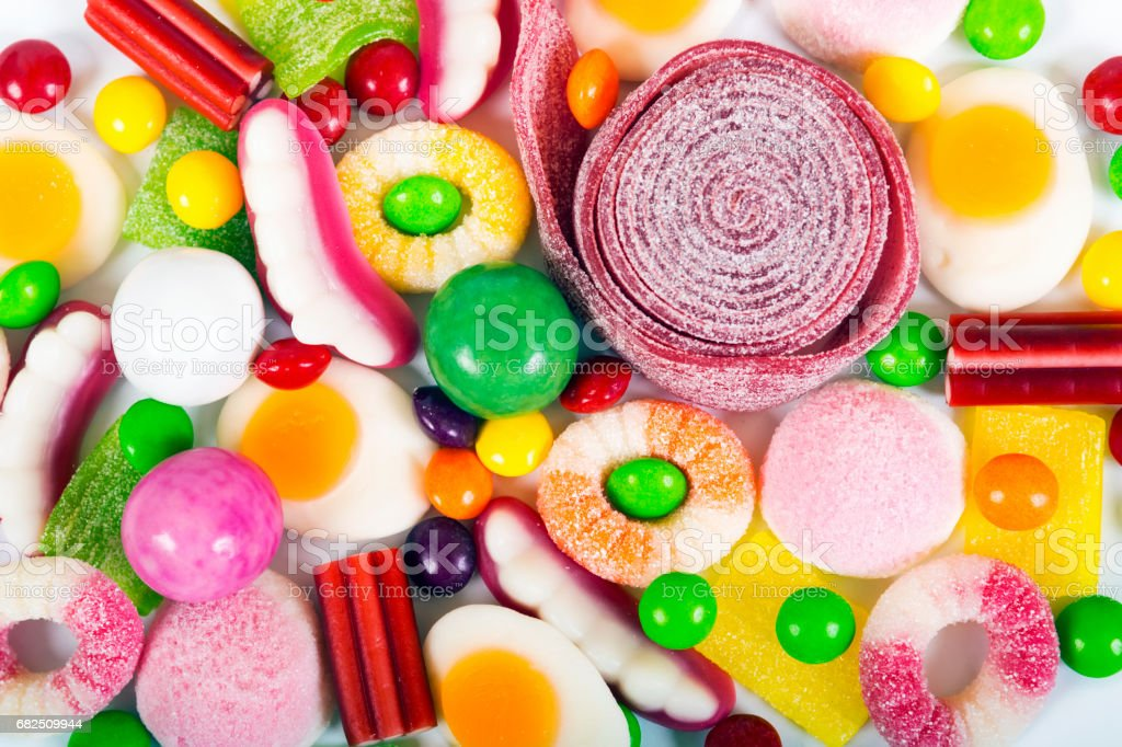 colorful candies and jellies background royalty-free stock photo