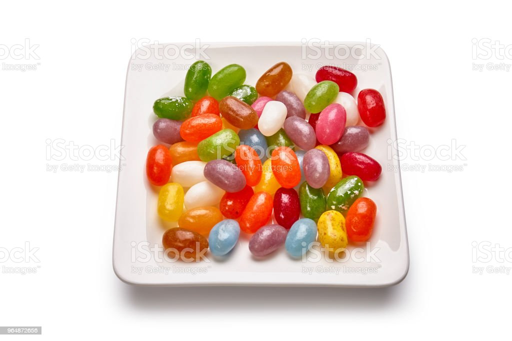 Colorful candies on the plate royalty-free stock photo