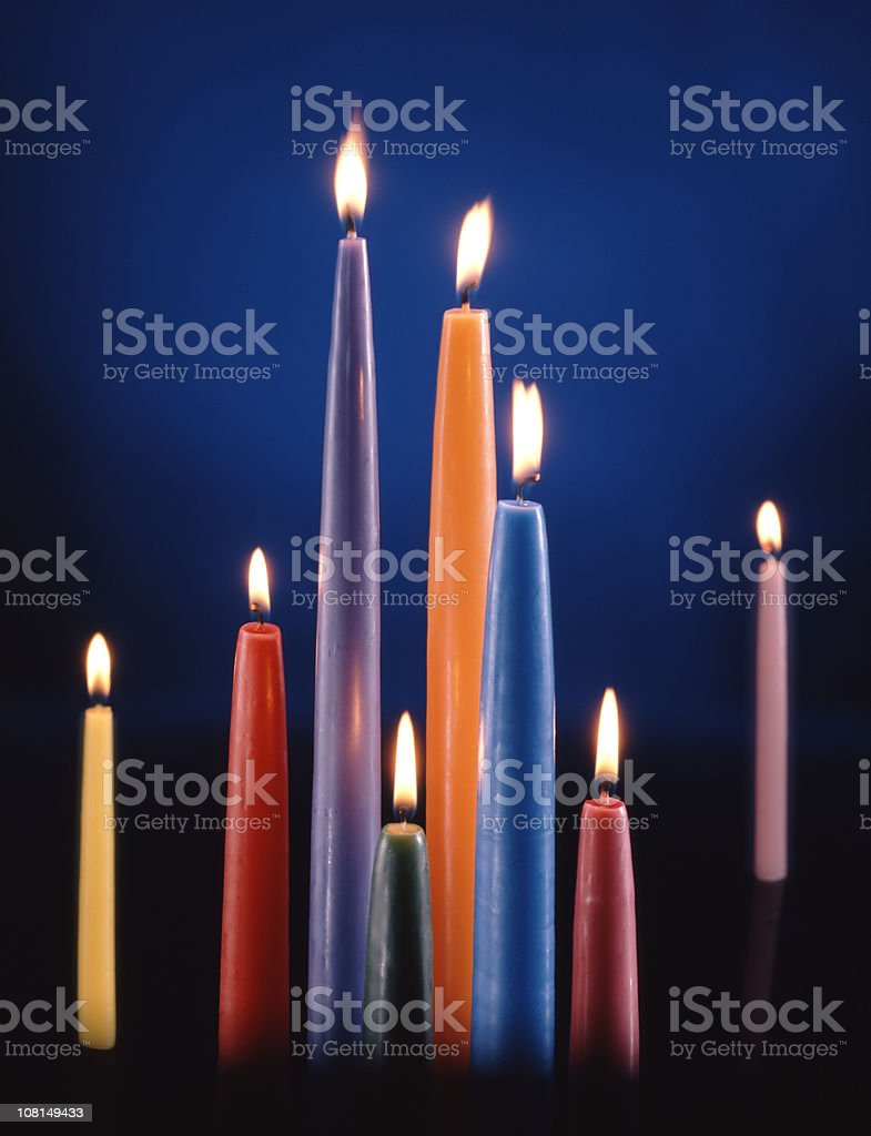 Colorful Candle Assortment stock photo