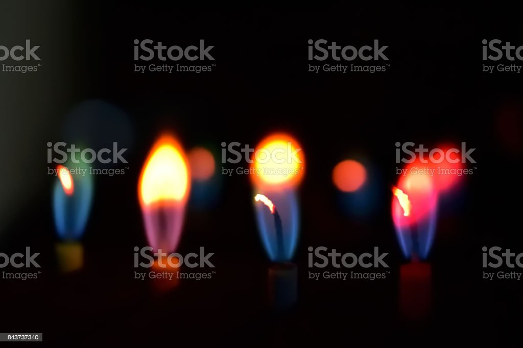 Colorful Candles Abstract stock photo