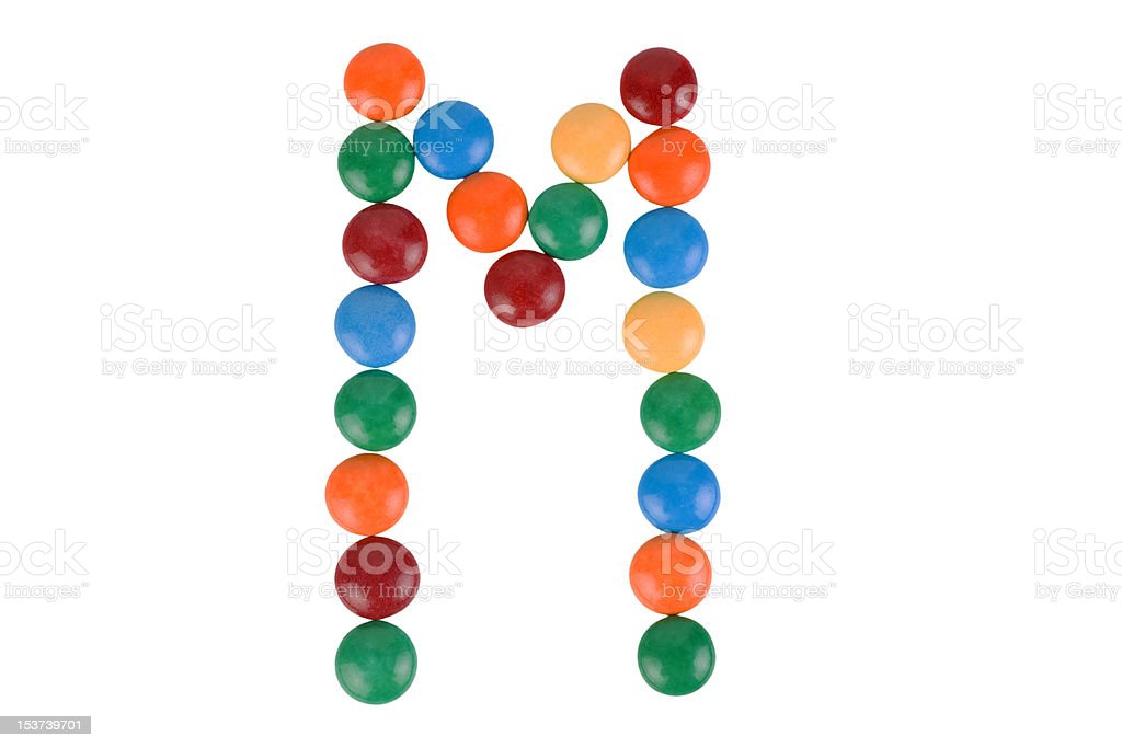 Colorful Candy Letter M stock photo
