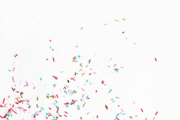 kolorowe cukierki posypka - posypka zdjęcia i obrazy z banku zdjęć