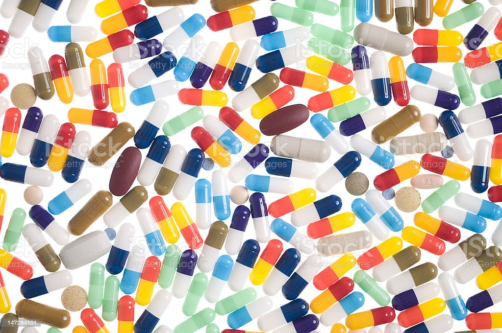 Colorful Capsules royalty-free stock photo