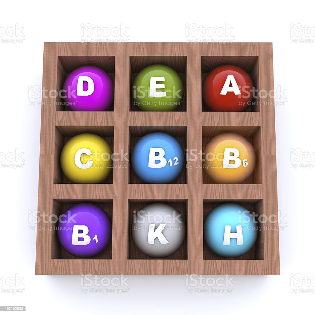 Colorful capsules with vitamins royalty-free stock photo