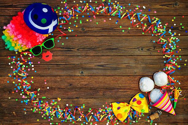 farbenfrohen karneval hintergrund - faschingssprüche stock-fotos und bilder