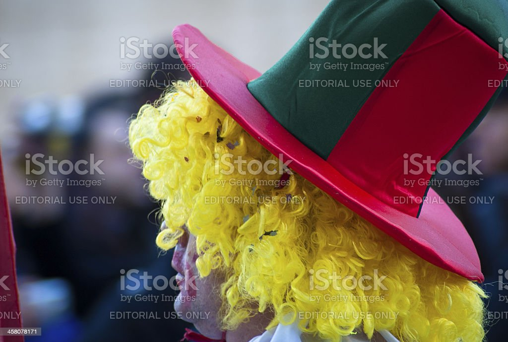 Colorful carnival clown royalty-free stock photo