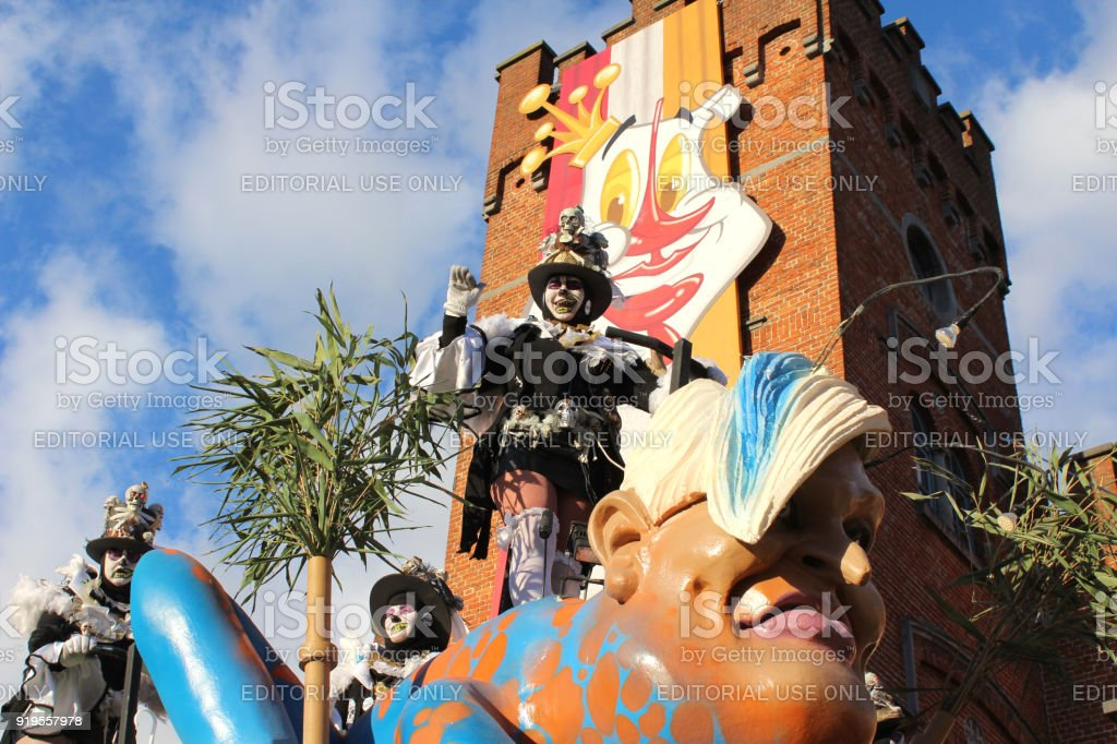 Colorful Carnival FloatAalst, Belgium stock photo