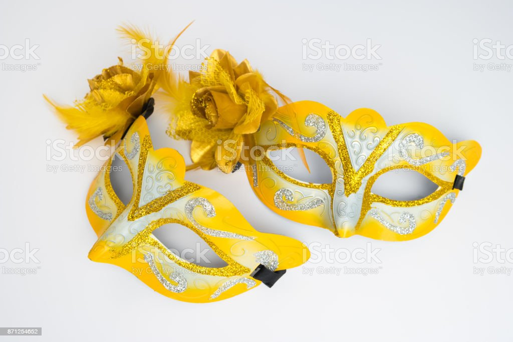 Colorful carnival masks stock photo