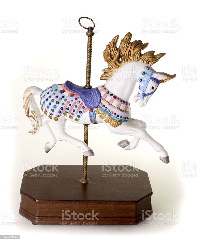 Colorful Carousel Horse stock photo