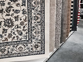 istock Colorful carpets exposed for sale 1267830951