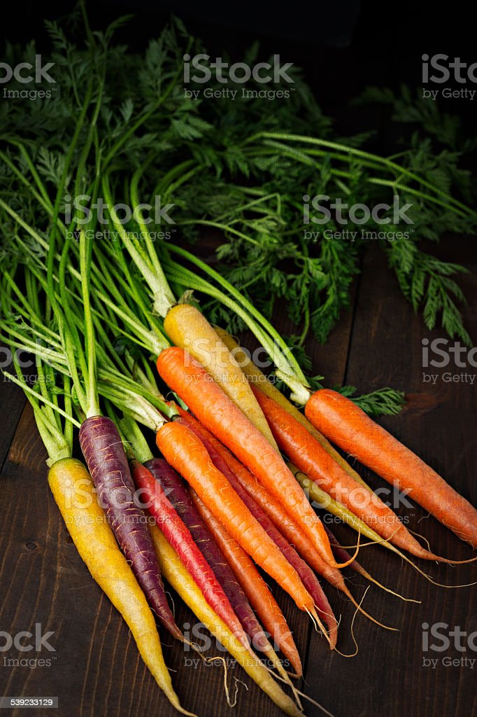 Colorful Carrots stock photo
