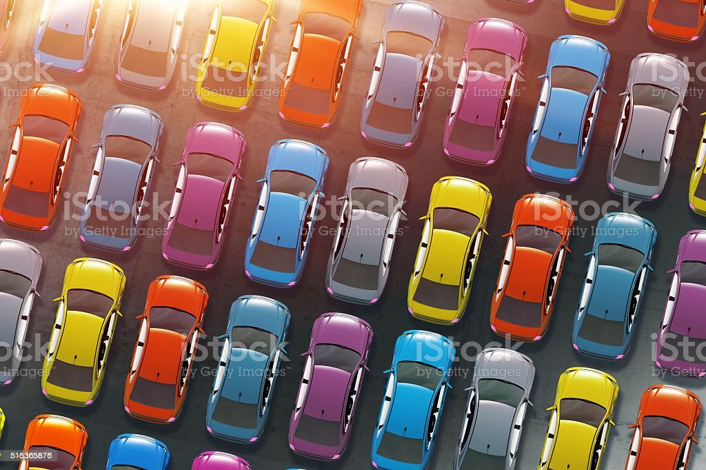Colorful Cars Inventory stock photo