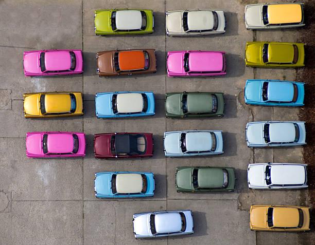 Bunte Autos – Foto